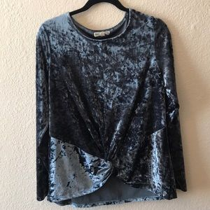 Beautiful slate velvet long sleeve